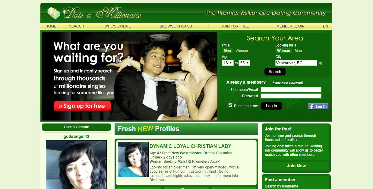 How to find a rich man online dating