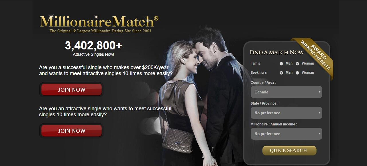 Dating sites to find a millionaire